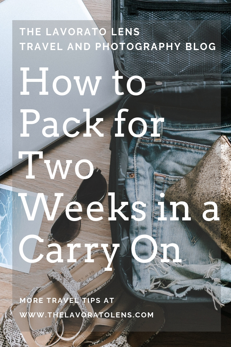 How to Pack for Two Weeks in a Carry On | The Lavorato Lens.jpg