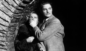 Robert Donat and Madeleine Carroll in The 39 Steps