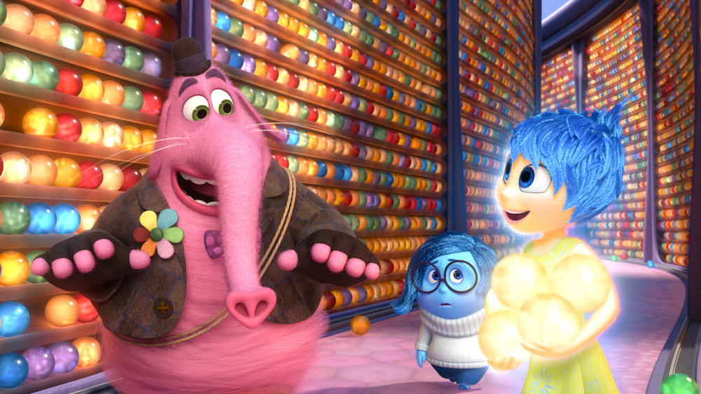 INSIDE OUT – Pictured (L-R): Bing Bong, Sadness, Joy. ©2015 Disney•Pixar. All Rights Reserved.