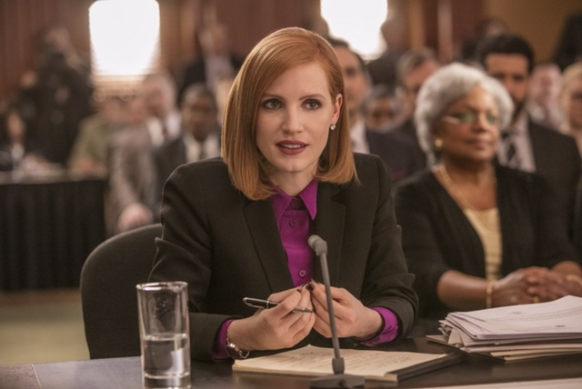 """M3 Jessica Chastain stars in EuropaCorp's """"Miss. Sloane"""". Photo Credit: Kerry Hayes © 2016 EuropaCorp – France 2 Cinema"""
