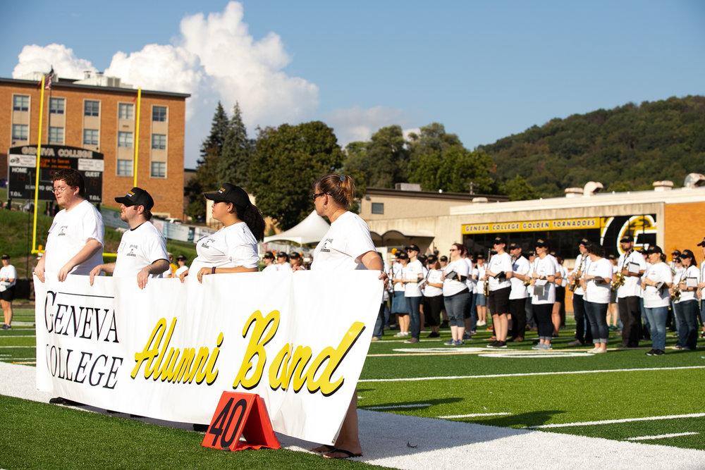 Geneva's 2018 Alumni Band: A Record Attendance