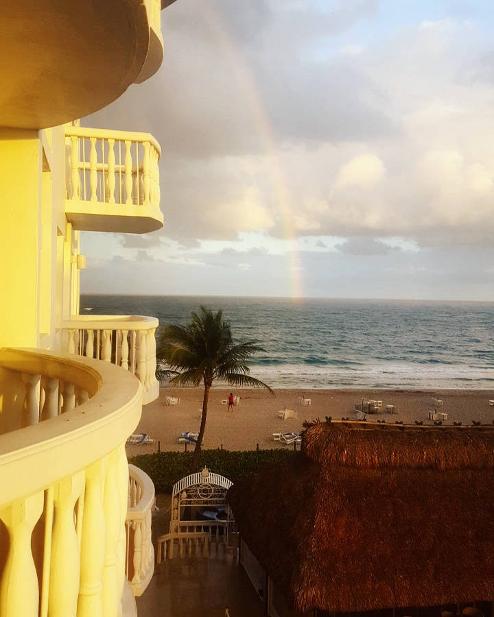 - Rainbow from balcony* See... The Balconies