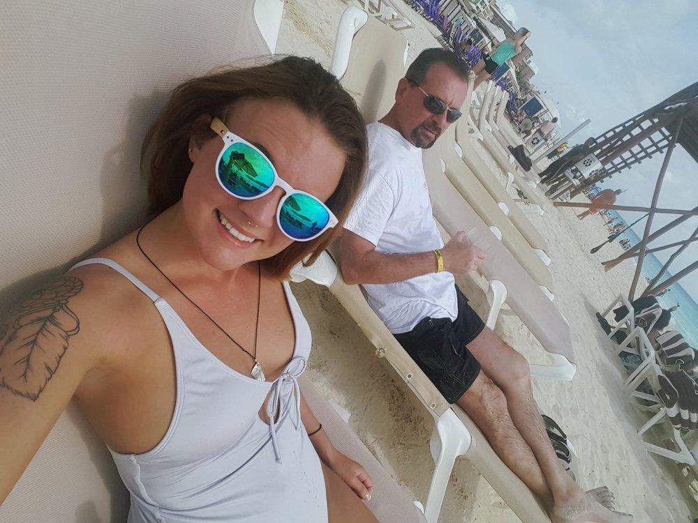 - * Enjoying the sunshine