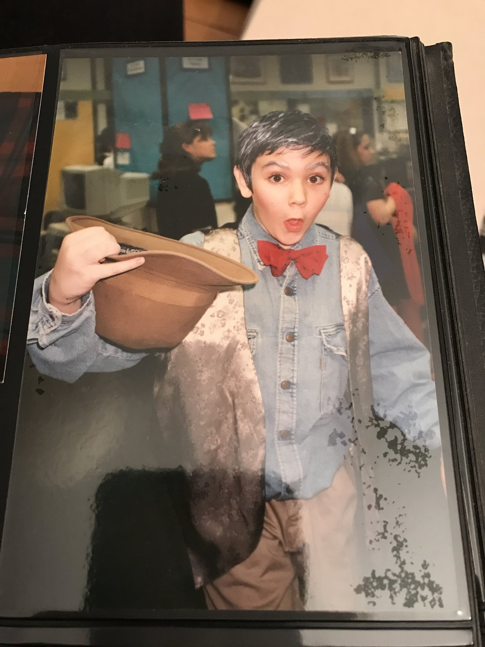 "Me in my first show ""This Joint Is Jumping"" that was the last time I've been in a musical. I'd like another shot at it!"