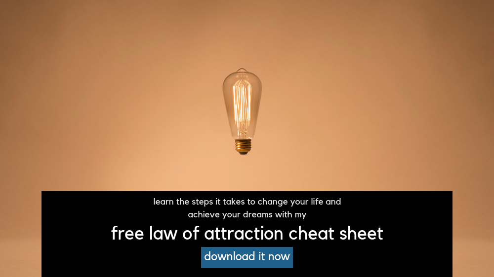 Law of attraction cheat sheet