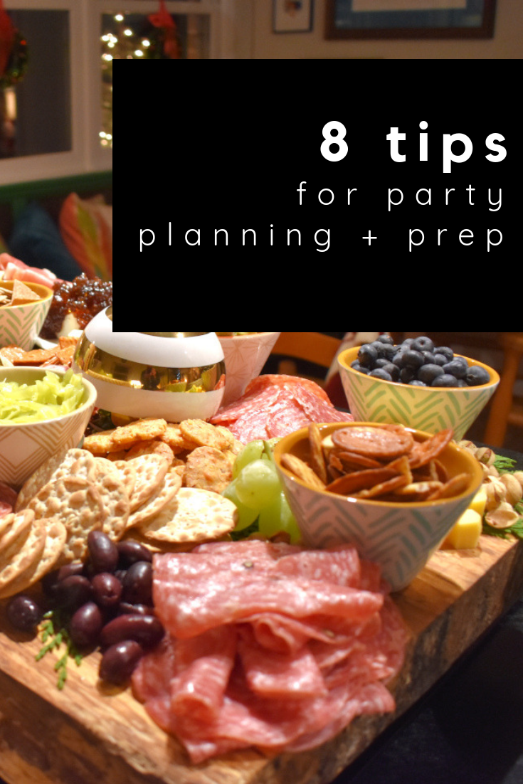tips for party planning + prep