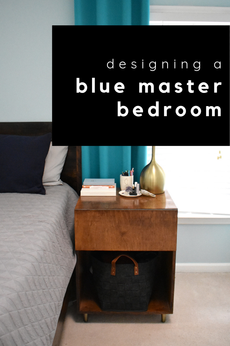 designing a blue master bedroom