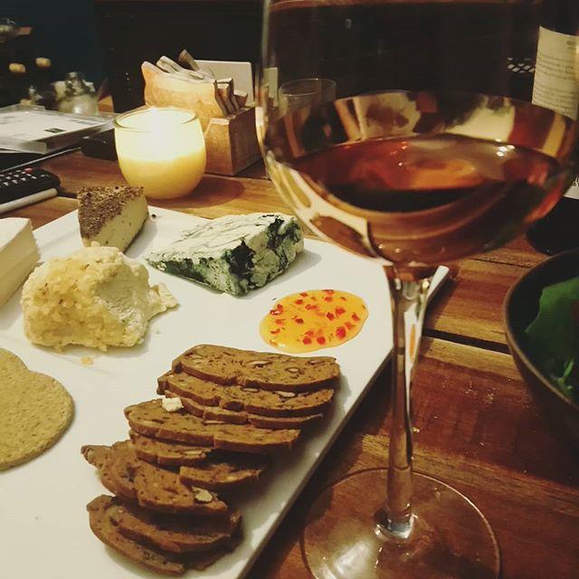 #vegan cheese and #homemadewine night for #valentines day.  Check out our review of @lafauxmagerie - up on Havenwards now