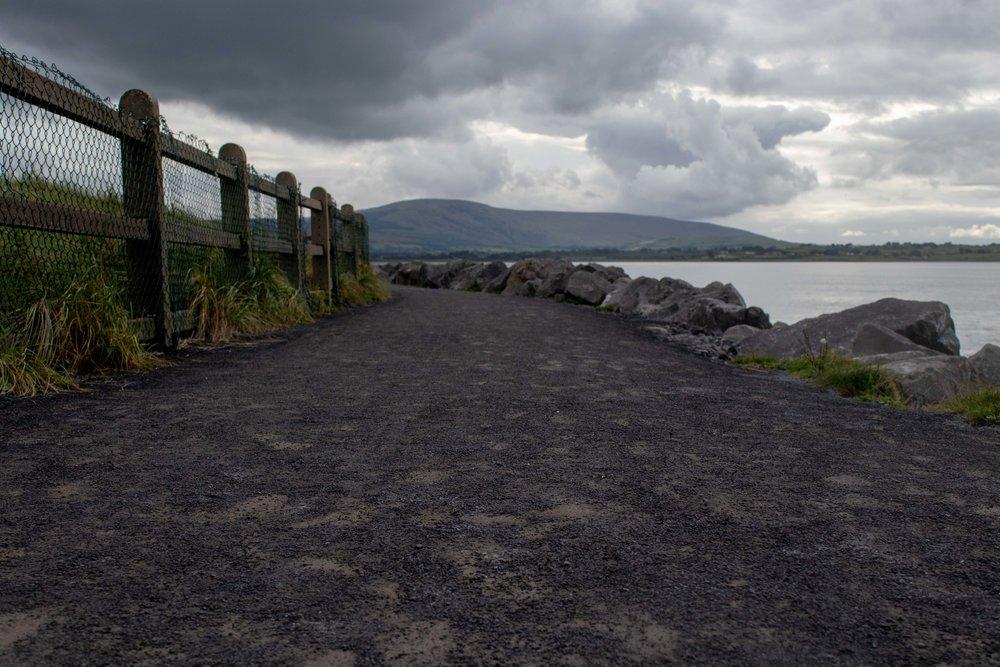 Path along the beach at Strand Hill