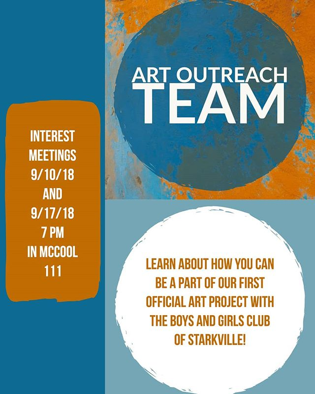 Do you want to spread art to your community? Check out Art Outreach Team, a brand new club at MSU! contact @katelyn_provine for more info!