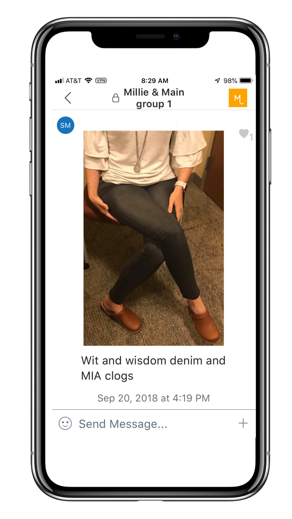 CHAT WITH YOUR STYLIST - Every client will have access to a private conversation with your stylist to ask questions, post photos of items you aren't quite sure about keeping, discuss clothes you are considering purchasing, share great finds and deals you have found .
