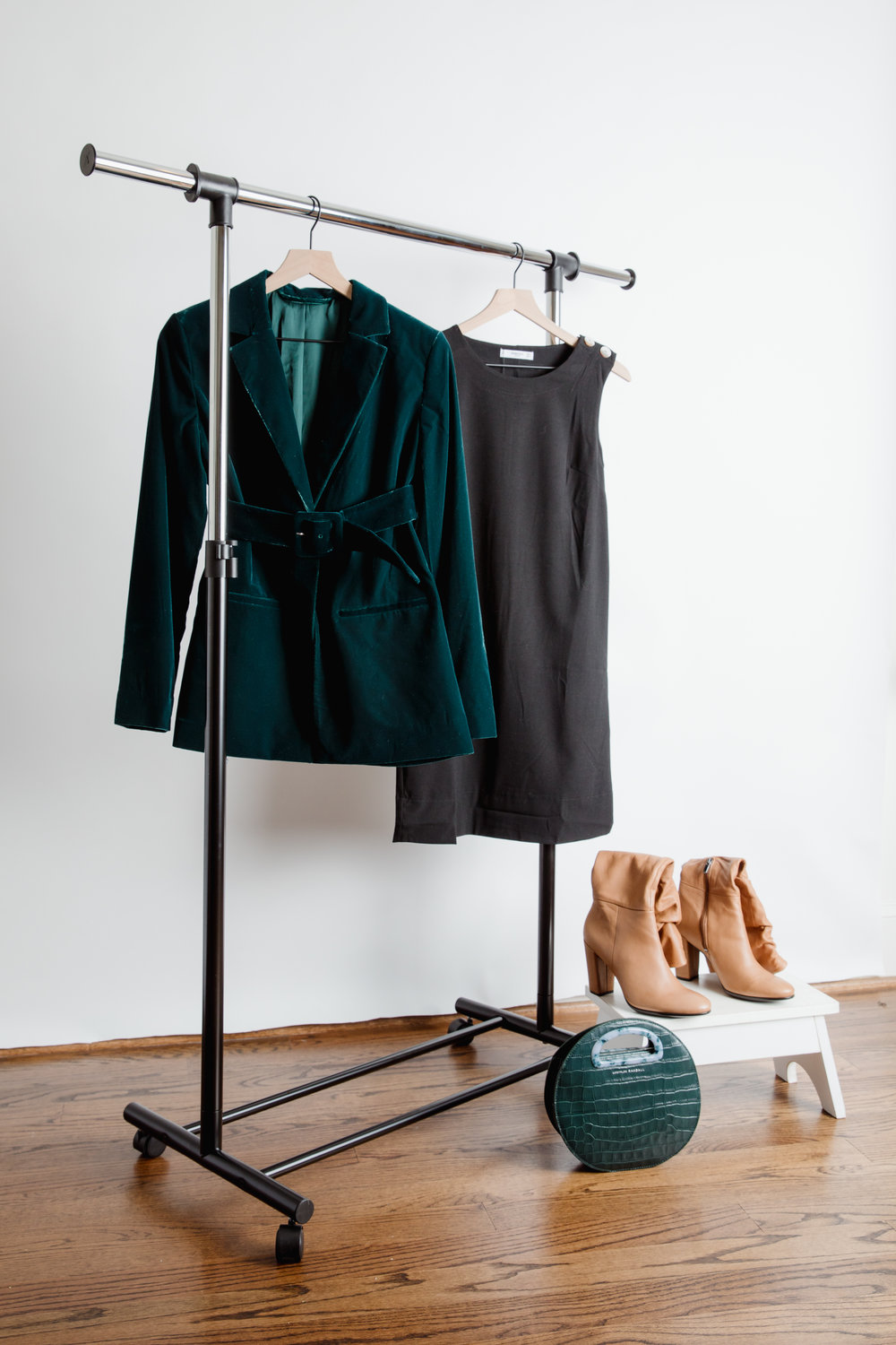 Get the look - Dress - Everlane, Nordstrom or LoftBlazer - Nordstrom, Gap or Ann TaylorBoots - Ecco, Nordstrom or Sam EdlemanBag - Bloomingdales, Article&, Nordstrom or Bloomingdales
