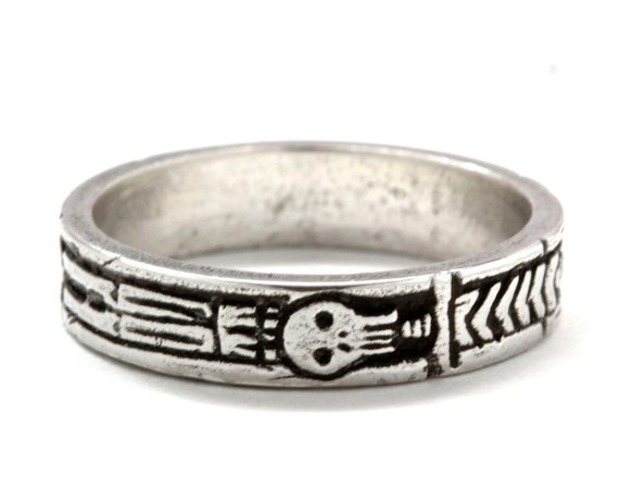 """ Georgian Skeleton Ring "" 21st-C. mourning ring on Etsy."