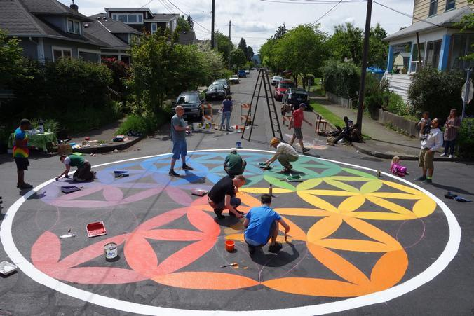 The Land Use and Transportation Committee is working to bring more public art murals and intersection paintings to Montavilla.