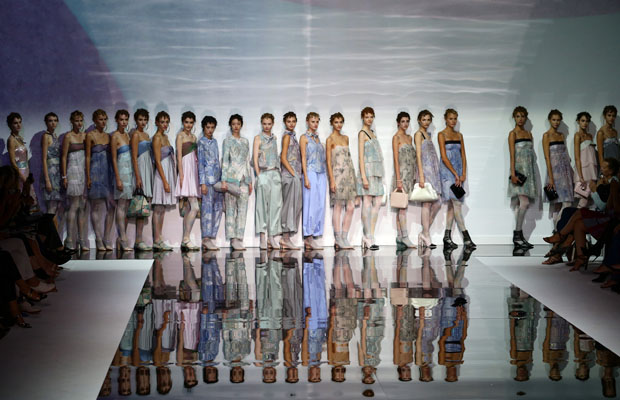 Emporio Armani - Runway - Milan Fashion Week Womenswear Spring/Summer 2014