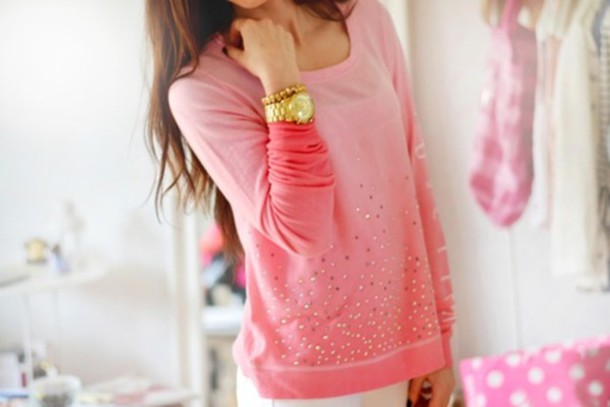 6yhr0s-l-610x610-sweater-shirt-top-cute-jewels-design-pink-dip-dye-girl-clothes-clothing