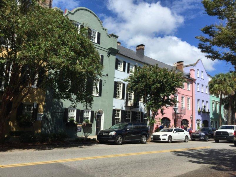 Rainbow Row in Charleston, S.C.