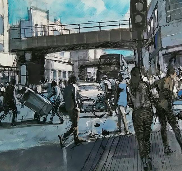 Mark Pearson - another painting of Rye Lane