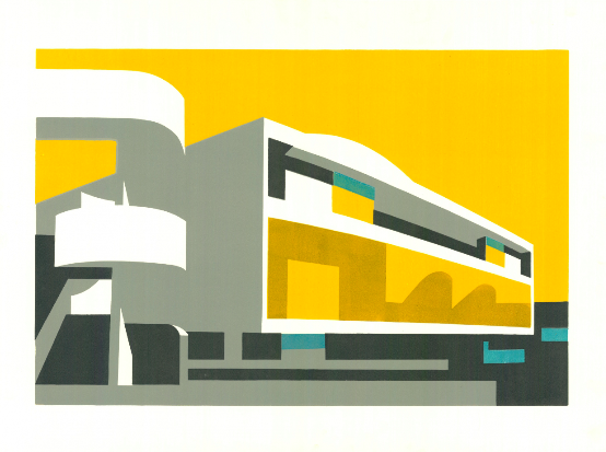 Another of the buildings on the South Bank. This time the Royal Festival Hall is given a sunny disposition in this print titled Festival II, a limited edition of 50.