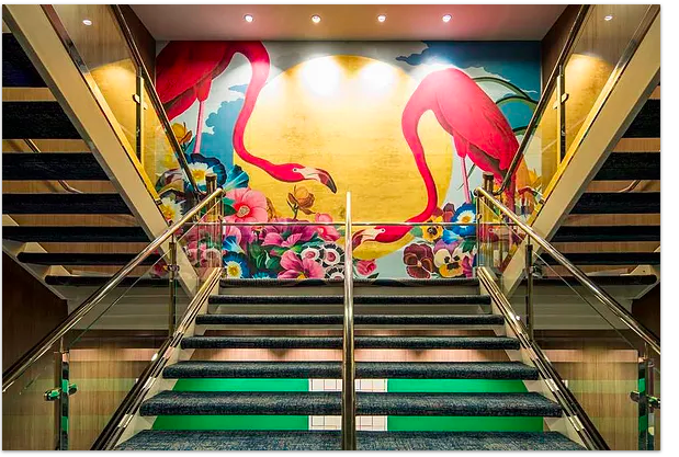 Mural installed on the cruise ship, Symphony of the Seas