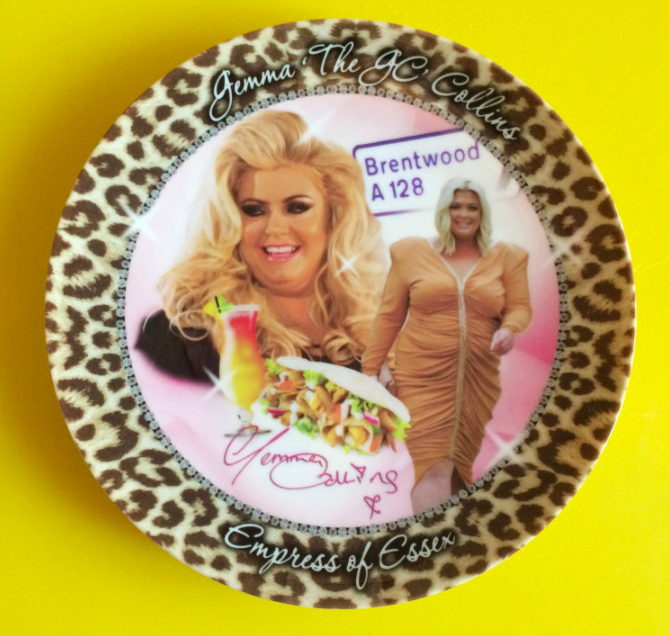 The Gemma Collins plate by Lucy Bryant