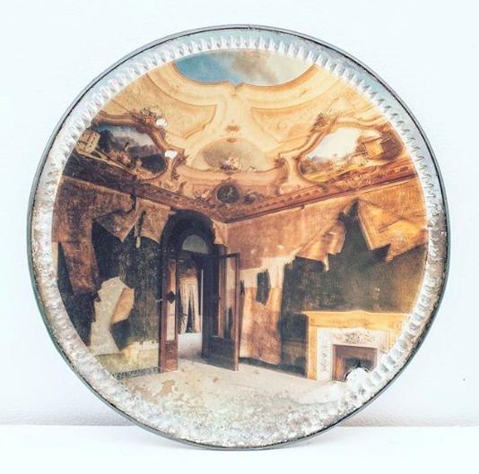 Recent work - photographs on vintage mirrors