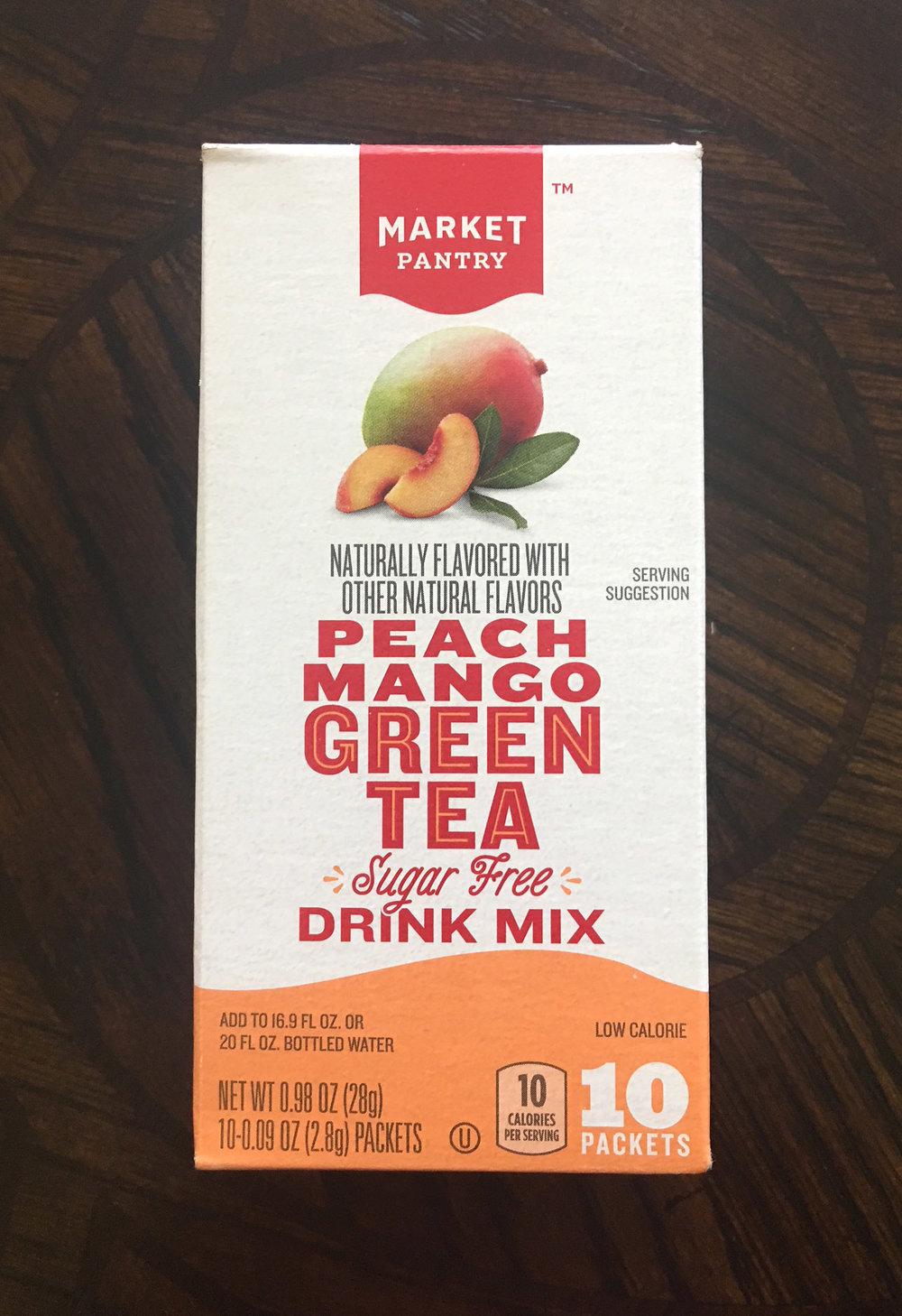 // MARKET PANTRY - Peach Mango Green Tea Sugar Free Drink Mix