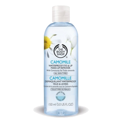 - The Body Shop Camomile Waterproof Eye & Lip Makeup Remover