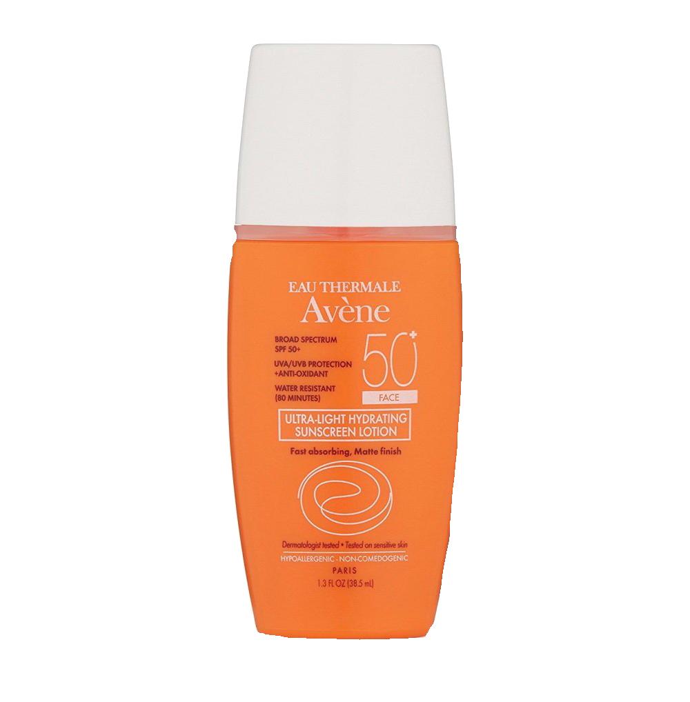 - Avene 50 SPF Face Ultra-Light Hydrating Sunscreen Lotion
