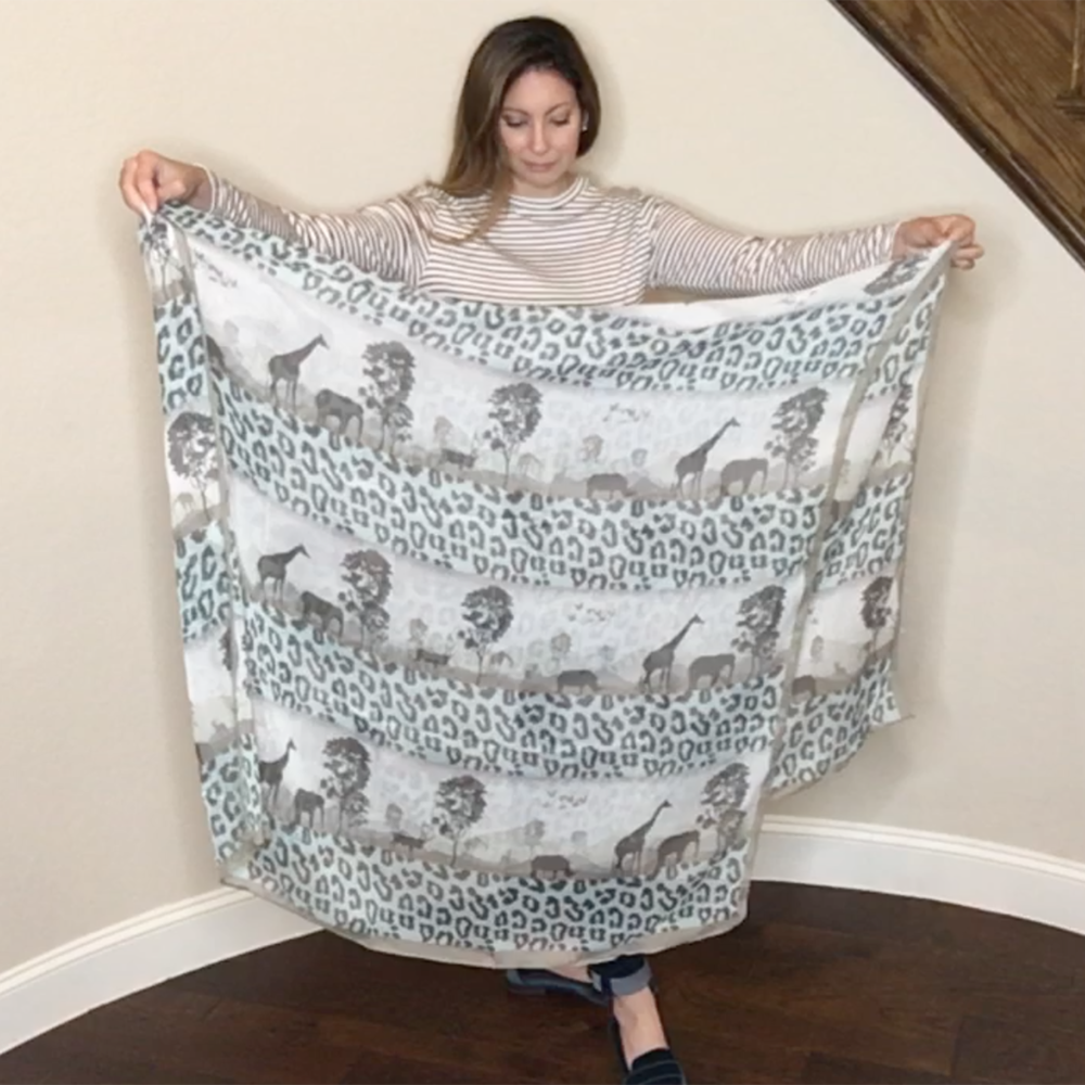 Item 2 - Leopard print scarf