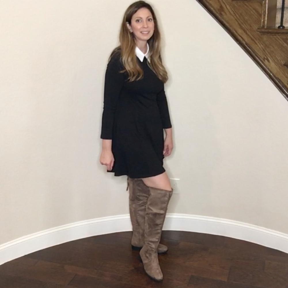 Items 15&16 - Peter Pan collar dress and Top Moda boots