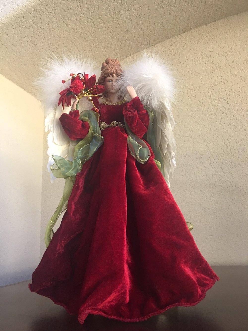 - Angel with red velvet dress