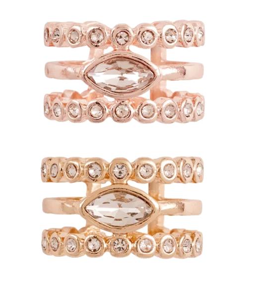 Luv AJ - Marquise Diamond Disc Statement Ring