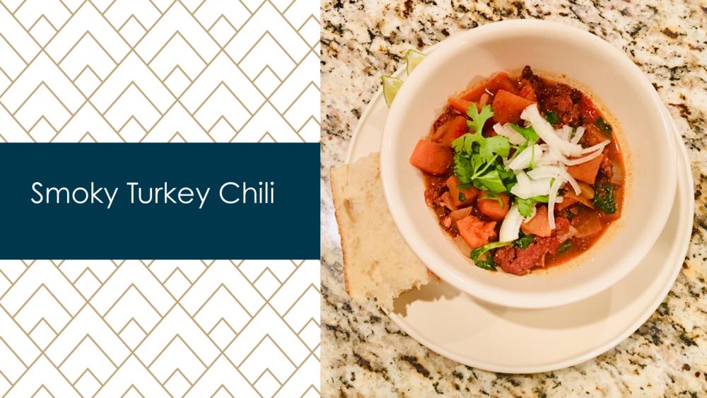 smoked turkey chili