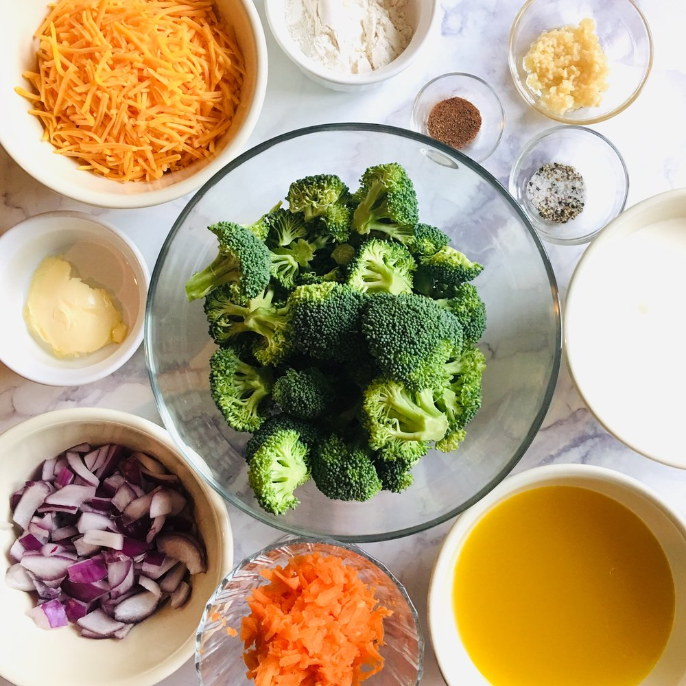 ingredients in broccoli cheddar soup