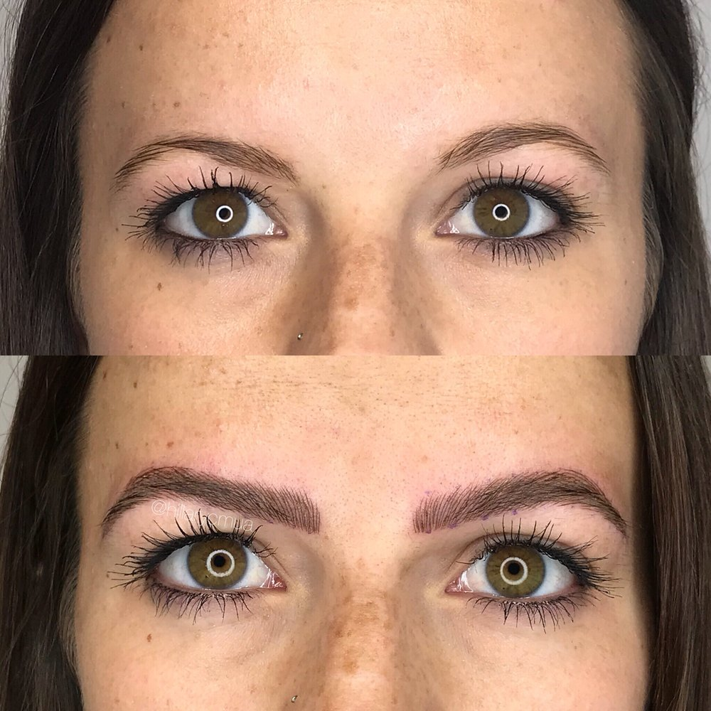 Microblading Initial Session - We said it before and we will say it again, brows literally make or break your face! Look at the difference we made in just one session! What are you waiting for!