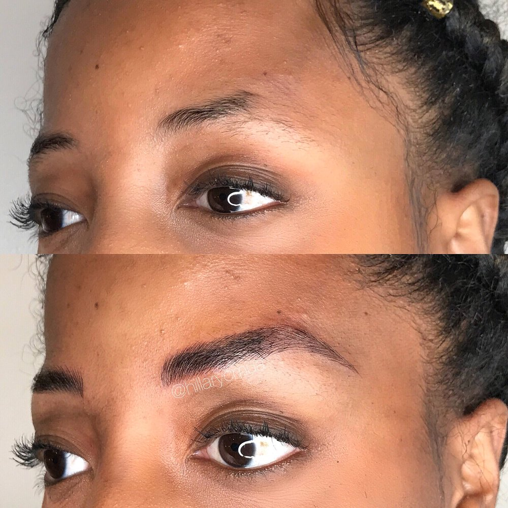 Microblading Initial Session - No tail? No problem! Whether you over plucked your brows, or they just never grew the right way, microblading can save the day. We absolutely love helping our clients feel confident with and without makeup!