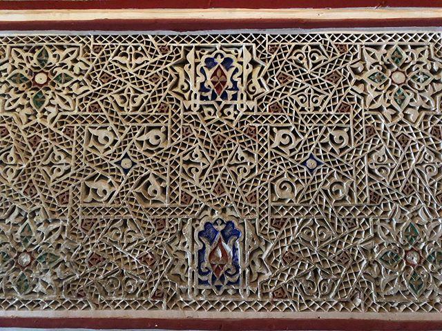 Patterns of Marrakech #morocco #marrakech #details #travel #extra #hardwork #aintnobodygottimeforthat