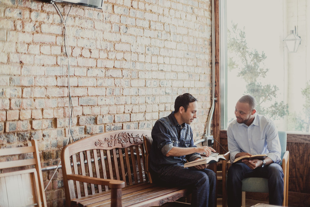 . . . - The personal relationship Christians pursue with Jesus Christ is reproduced when two people connect around two languages in one Bible. Both benefit.
