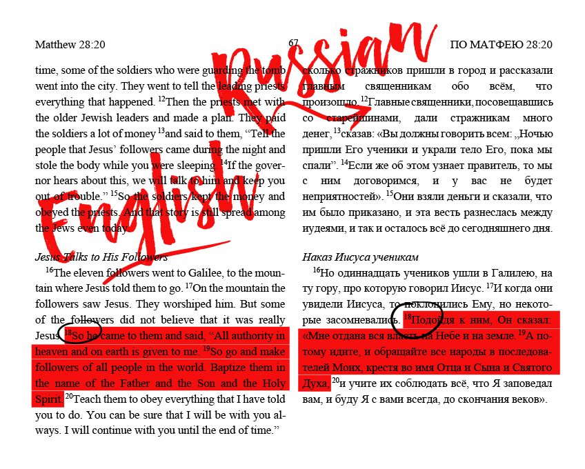 ENGLISH+RUSSIAN - A Two-Language Bible