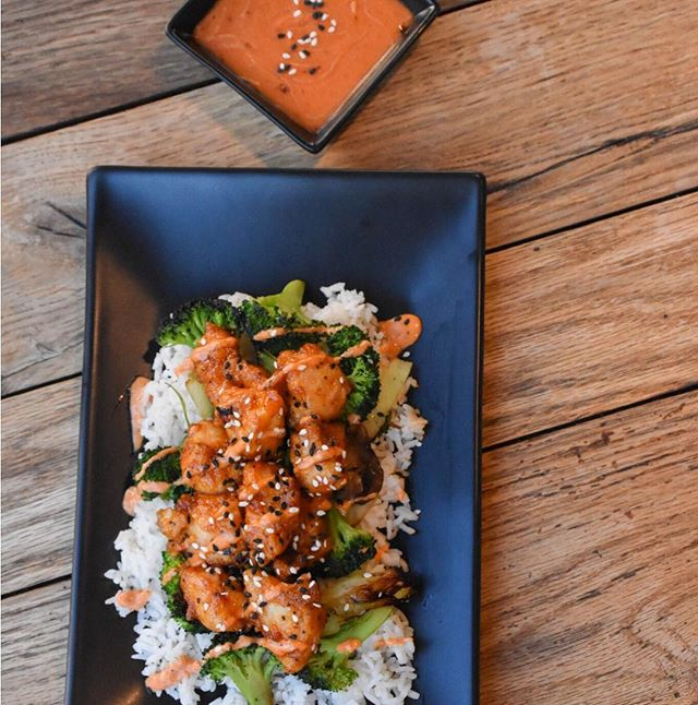 Happy Valentine's Day! Treat your special someone to one of our most popular dishes! NINJA CHICKEN!  Open at the village in Meridian! #ninjachicken #riceworksasianfood #eatlocal #rice #noodles #littlebitofspice #supportlocal #idaho #asianfusion