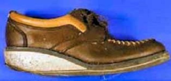 The heels on the loafers had significant wear