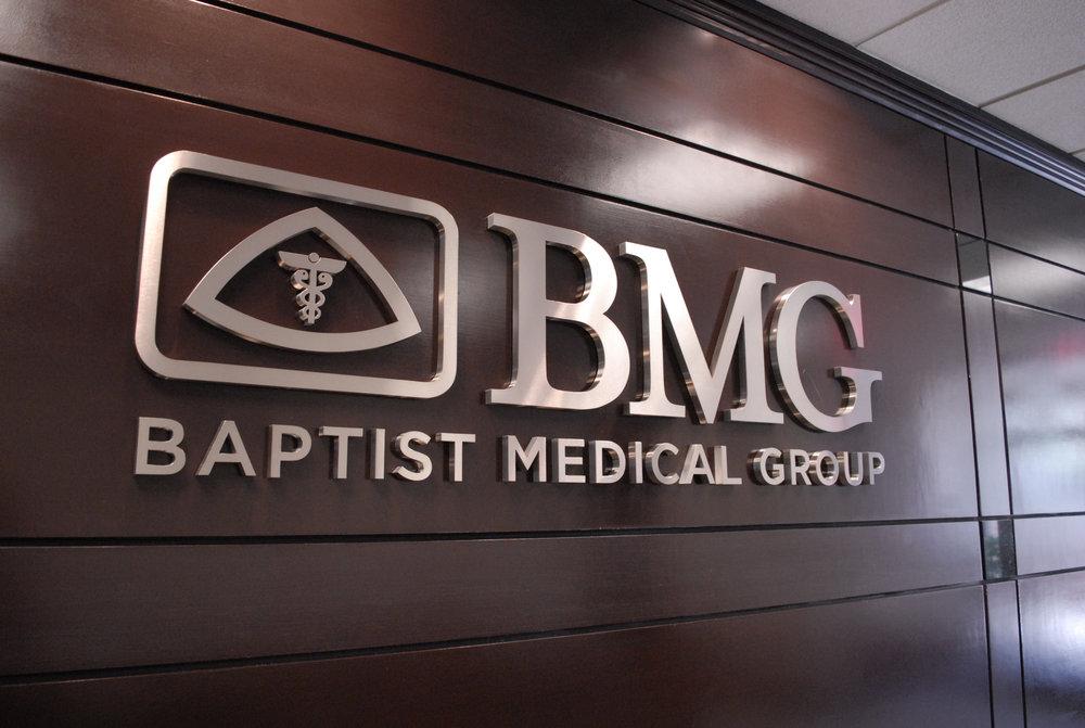 Baptist Medical Group Waterjet Cut Lobby Logo