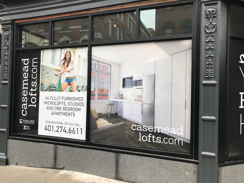 Case Mead Lofts Window Graphics