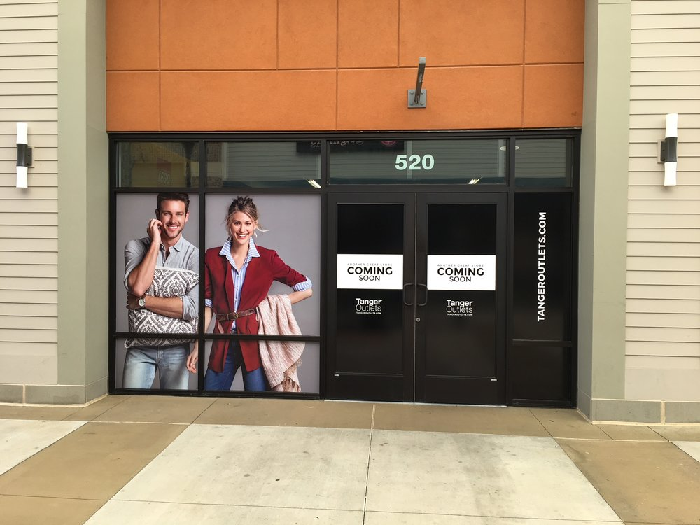 Tanger Outlets Window Graphics