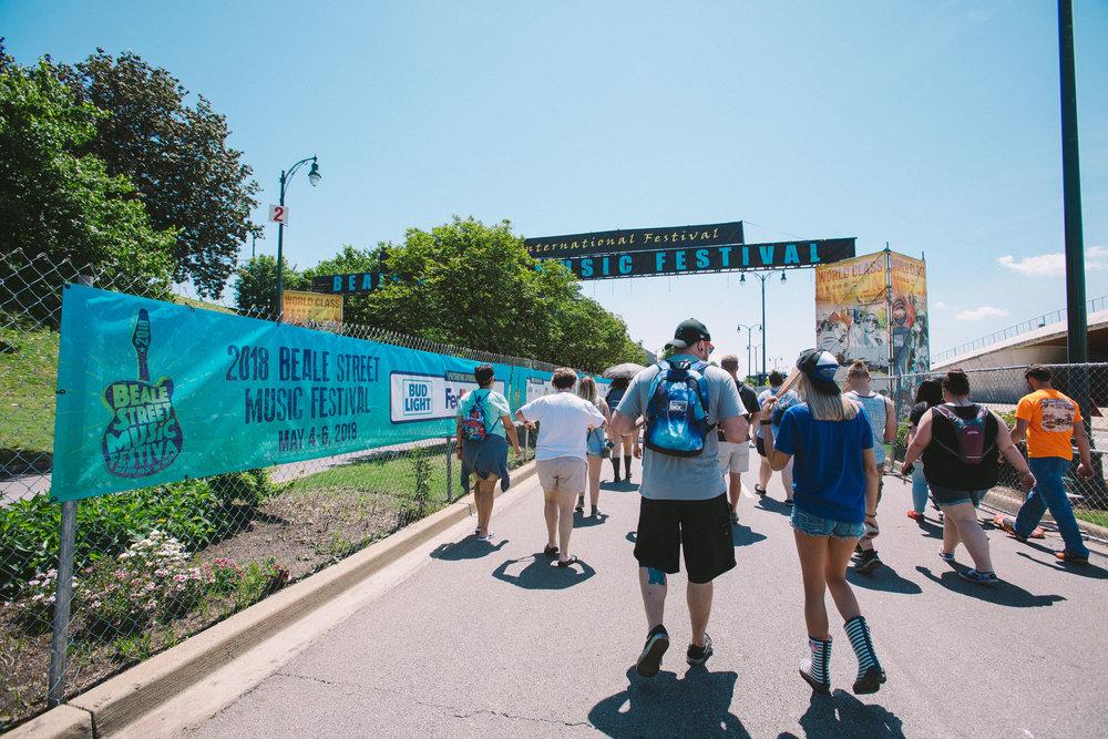 Beale Street Musicl Festival Entrance Banners