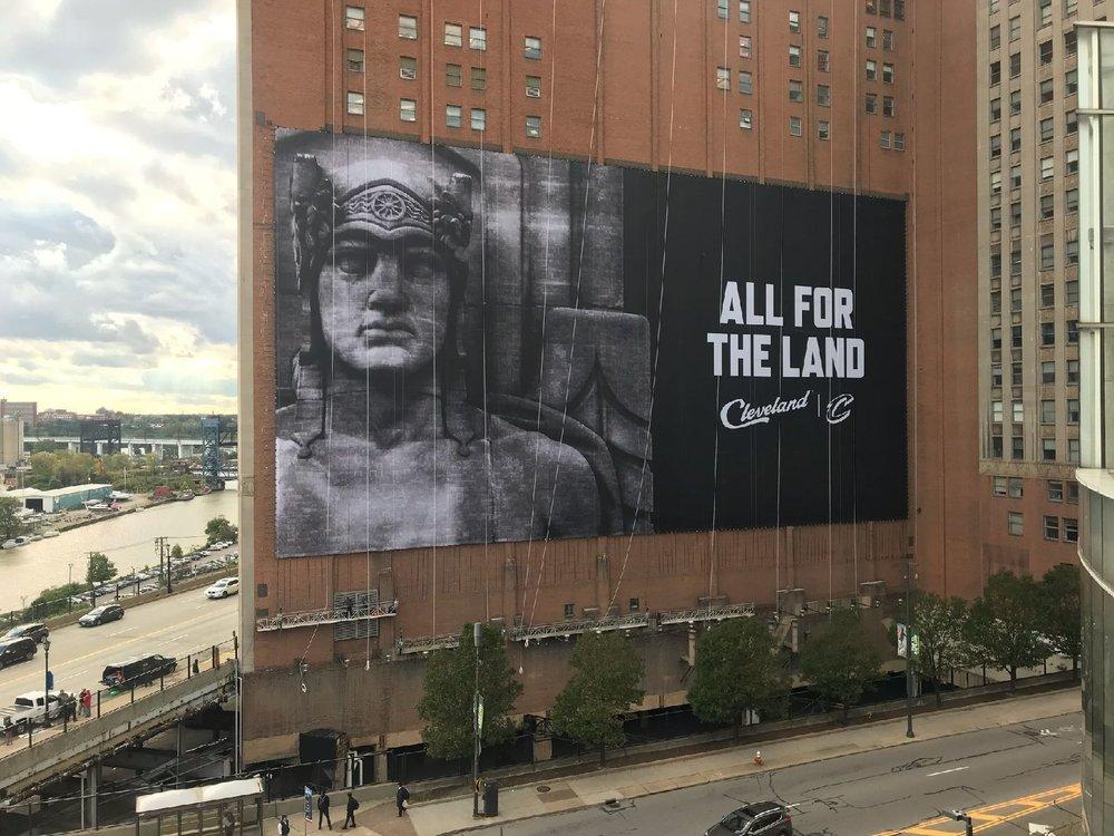 Cleveland Cavaliers Building Wrap