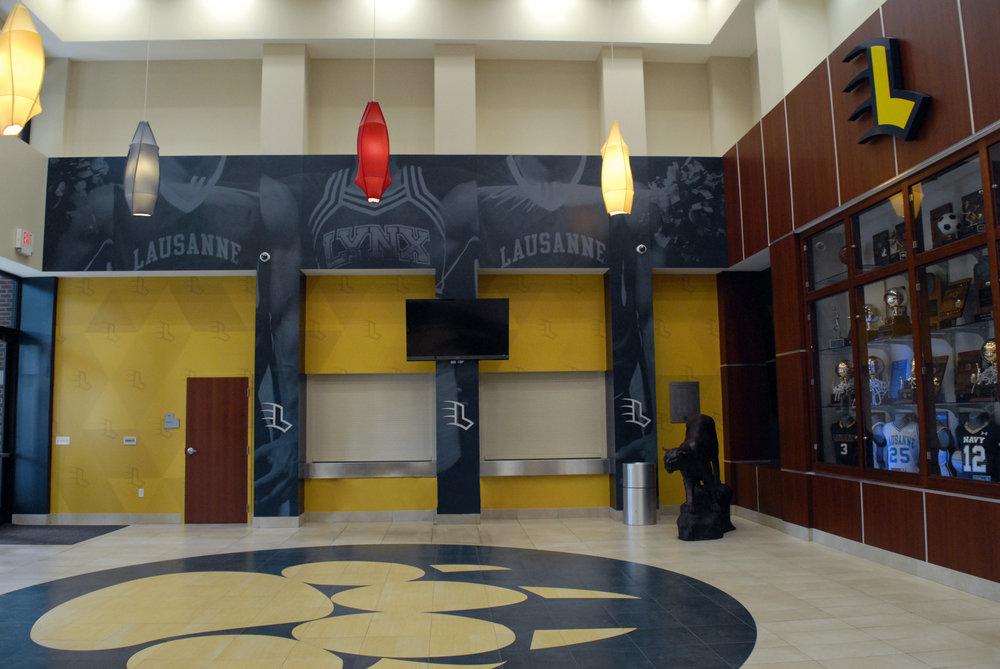 Lausanne Collegiate School Lobby Interior ArchticturalSurfaces WallMurals Branding Memphis TN ..