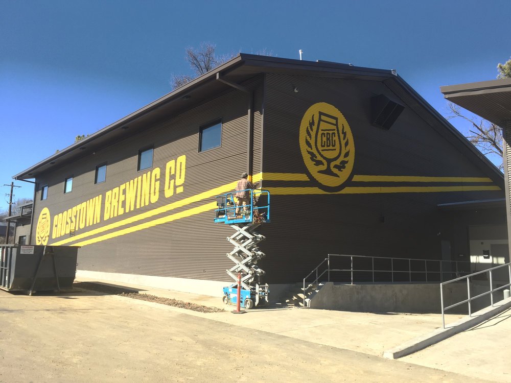 Crosstown Brewing Painted Logo Day