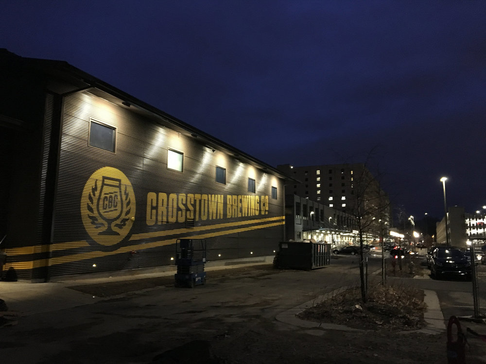 Crosstown Brewing Painted Logo Night